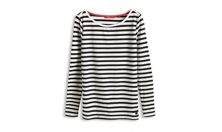U-Boot-Shirt aus Baumwollstretch (c) Esprit