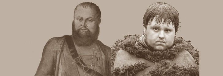 Fotomontage: STADTBEKANNT Adamek (l. Heeresgeschichtliche Museum, Andreas Hofer |r. Game of Thrones, Samwell Tarly)