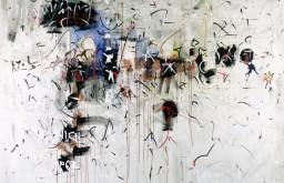 Hans Staudacher, Österreichtag Stadthalle, 1967, Öl auf Leinwand, 180 x 200 cm, Fotonachweis: Photoatelier Laut, Wien, © Sammlung Essl Privatstiftung
