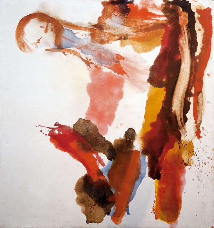 Wolfgang Hollegha, Holzstück, 1970, Öl auf Kreidegrund auf Leinwand, 215 x 202 cm, Fotonachweis: Franz Schachinger, Wien, © Sammlung Essl Privatstiftung