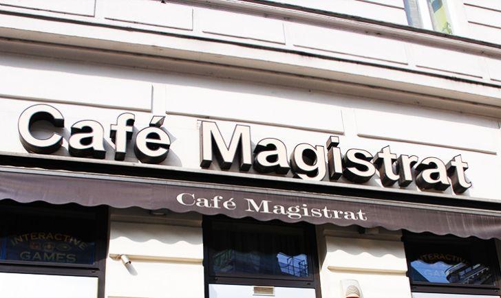 Cafe Magistrat Schild (c) STADTBEKANNT