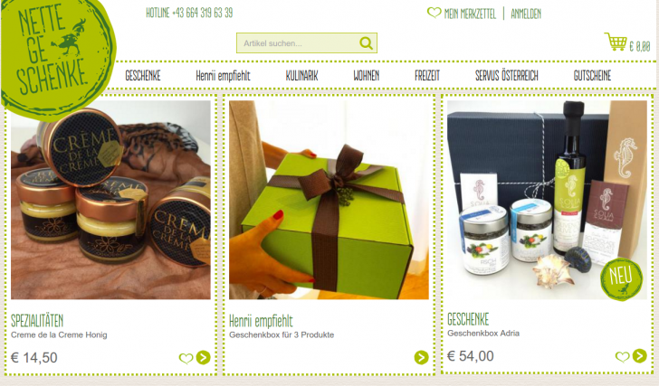 Nette Geschenke Website (c) Nette Geschenke