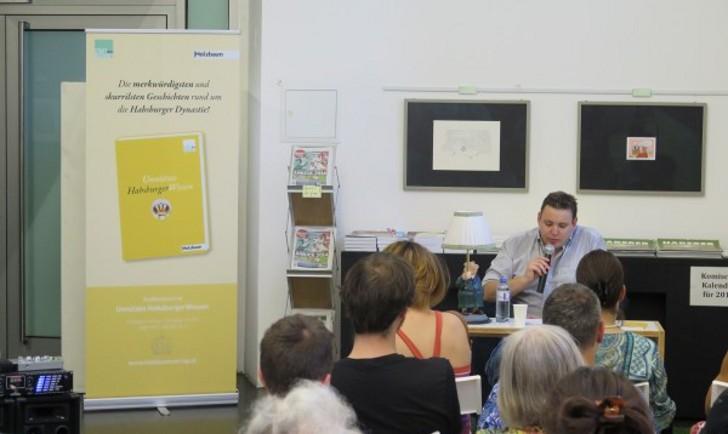 """Buchpräsentation """"Unnützes HabsburgerWissen"""" am 18.07.14, Foto: STADTBEKANNT"""
