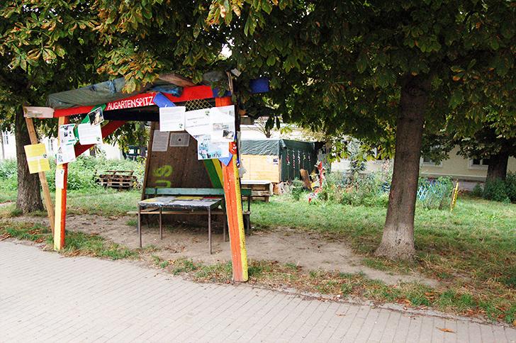Protestcamp Augartenspitz (c)  Buchinger STADTBEKANNT