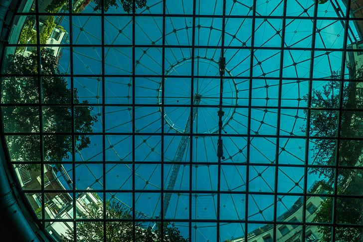 Glasdecke Gasometer (c) STADTBEKANNT Zohmann