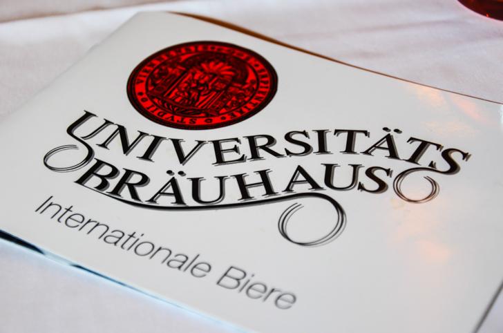 Bierkarte Universitätsbräuhaus (c) STADTBEKANNT