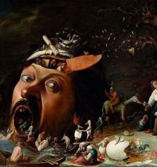 Joos van Craesbeeck, Versuchung des heiligen Antonius, um 1650, © Staatliche Kunsthalle Karlsruhe