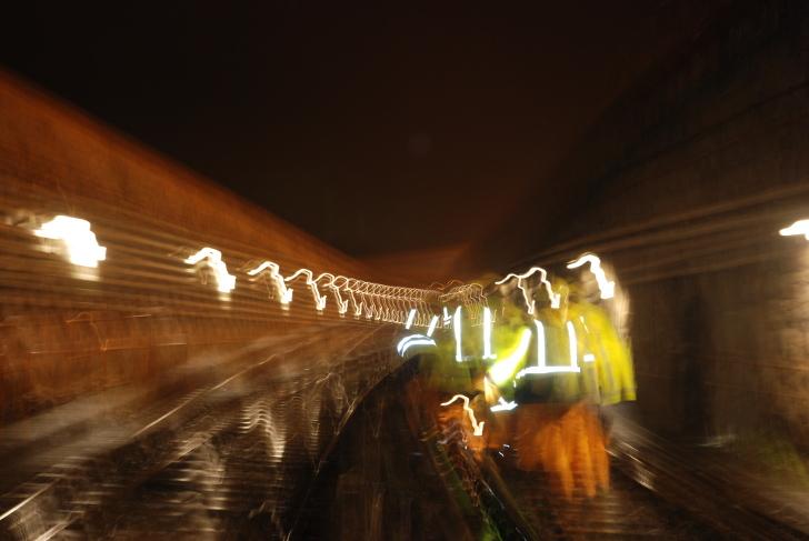 U-Bahn Nachtarbeiten Foto STADTBEKANNT