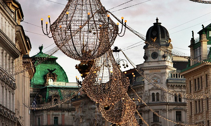 Wohin in Wien Graben Beleuchtung (c) STADTBEKANNT