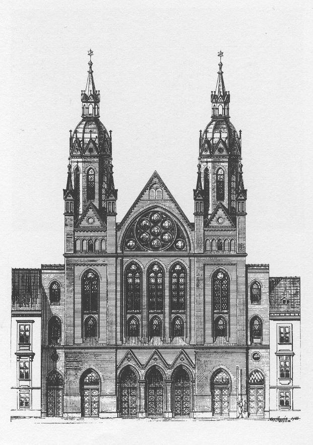 Neudeggergasse Synagoge Plan Max Fleischer