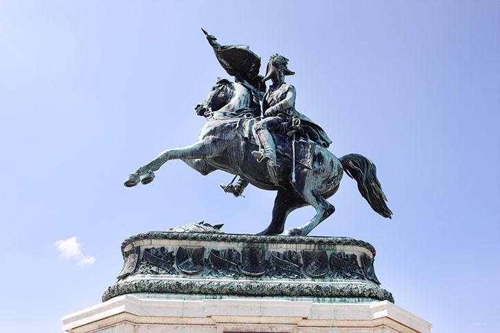 Erzherzog Karl Reiterdenkmal Heldenplatz Wien (c) STADTBEKANNT
