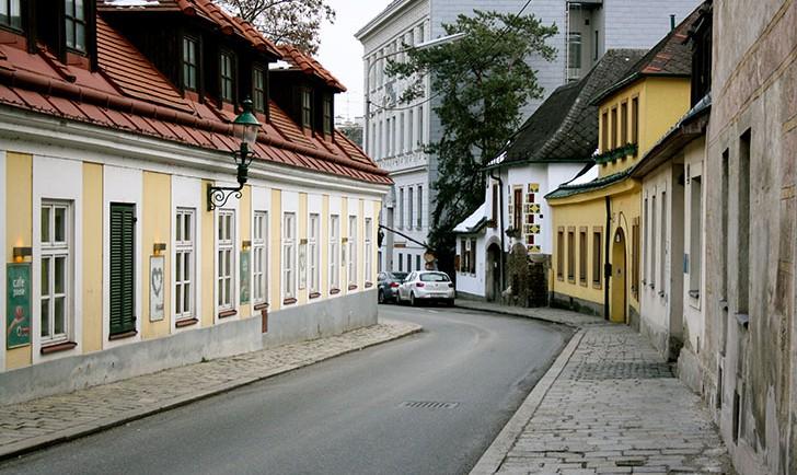 Eine Straße in Sievering (c) STADTBEKANNT
