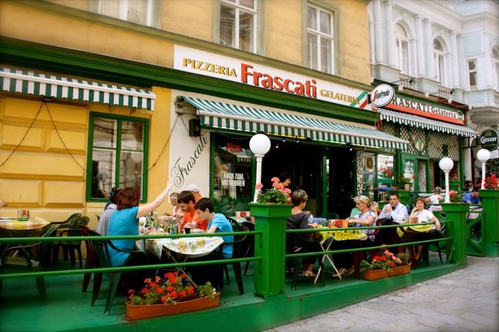 Schanigarten Pizzeria Frascati (c) Nohl stadtbekannt.at