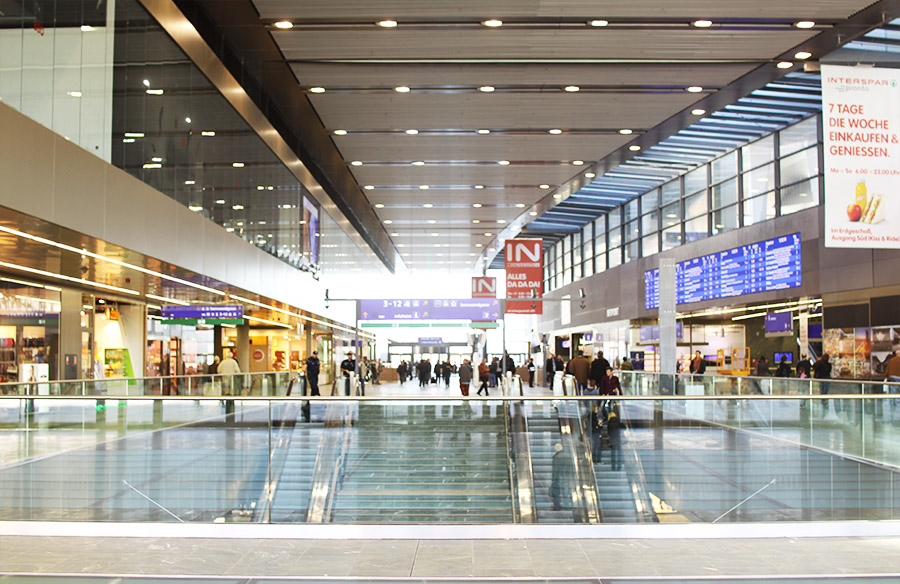Wien Hauptbahnhof Halle (c) STADTBEKANNT