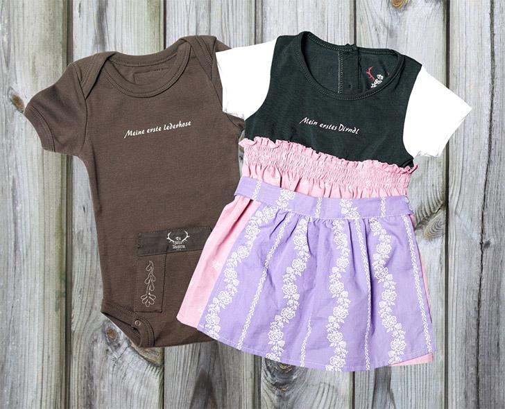 Baby-Bodies im Dirndl- und Lederhosenlook