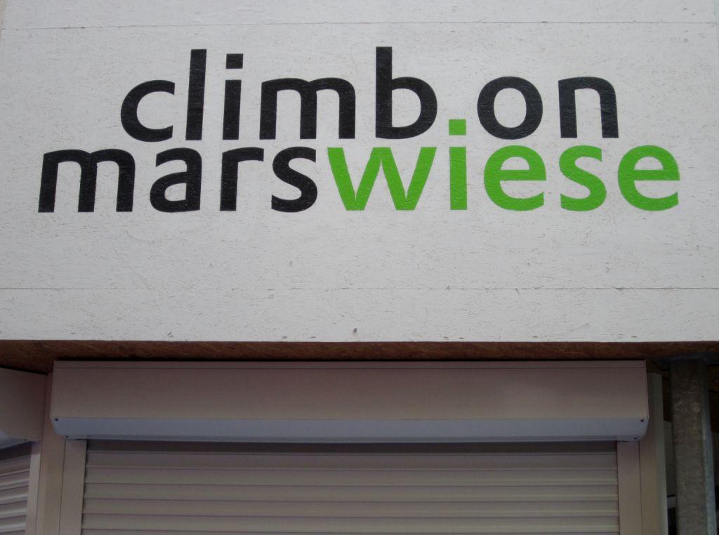 Kletterhalle Marswiese Schriftzug (c) STADTBEKANNT