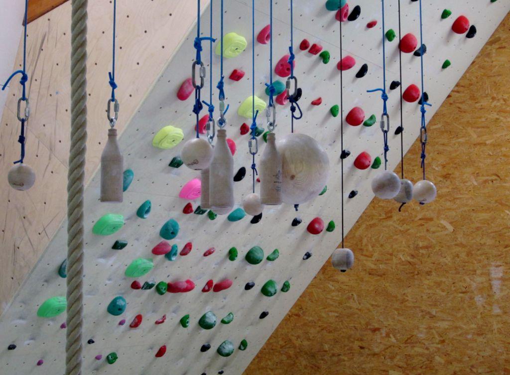 Kletterhalle Marswiese Trainingsbereich Detail (c) STADTBEKANNT