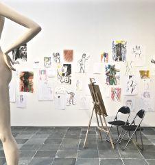 21er Haus Duett mit Künstler - Aktzeichnen (c) STADTBEKANNT