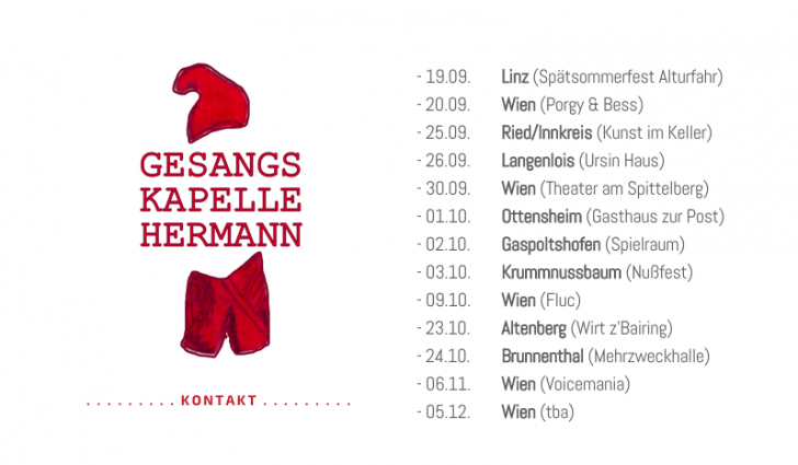 Gesangskapelle Hermann Tourdates (c) Gesangskapelle Hermann