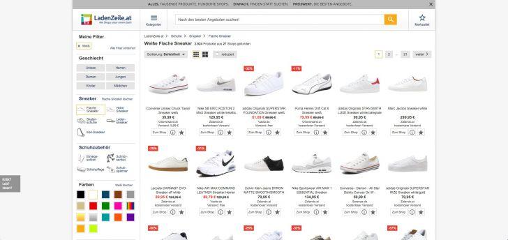 Ladenzeile.at / Produkte