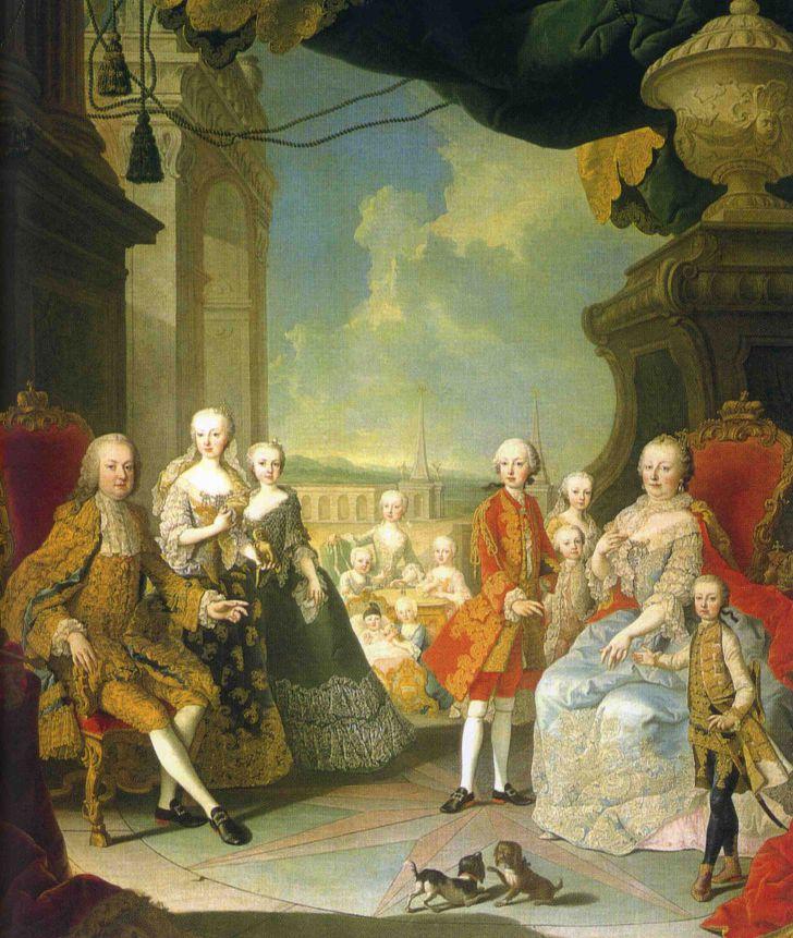 Familienporträt um 1754 (c) Sammlung Bundesmobilienverwaltung, Fritz Simak für SKB