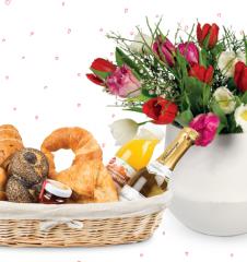 Hausbrot Blumenfrühstück (c) Hausbrot.at