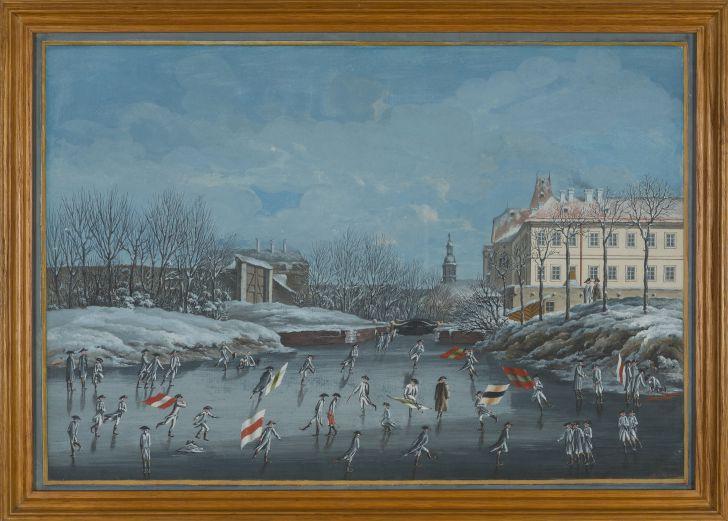 Aus dem Leben der Zöglinge Eislaufen und Fahnenschwingen (c) SKB Theresianische Militärakademie Wr. Neustadt A.E.Koller