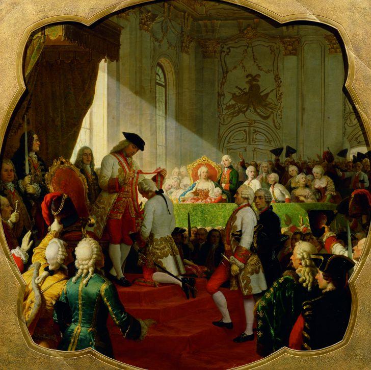 Erste Verleihung des Militär-Maria-Theresien-Ordens durch Kaiser Franz I. (c) Belvedere