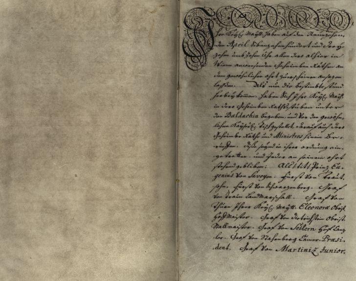 Publizierung der Pragmatischen Sanktion (c) Österreichisches Staatsarchiv