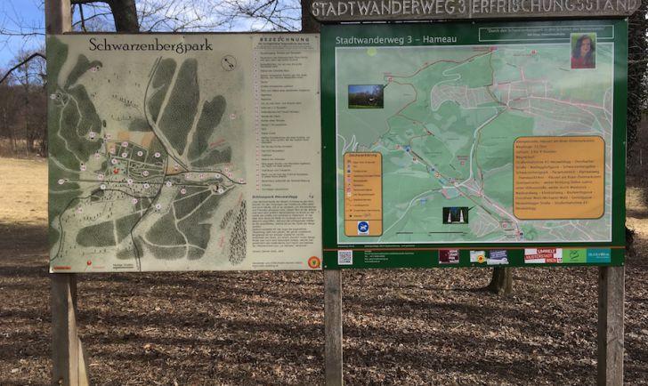 Laufstrecke 10 - Infoschilder Schwarzenbergpark (c) STADTBEKANNT