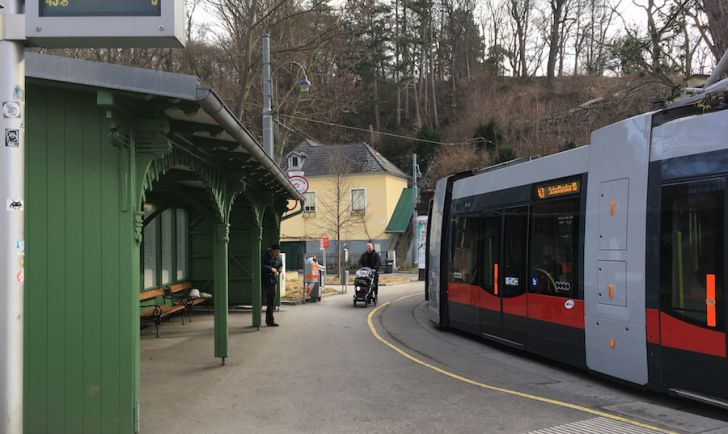 Laufstrecke 23 - Ziel Endstation Neuwaldegg (c) STADTBEKANNT