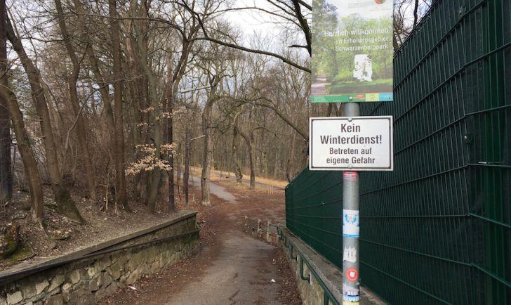 Laufstrecke 3 - Eingang zur Schwarzenbergallee (c) STADTBEKANNT