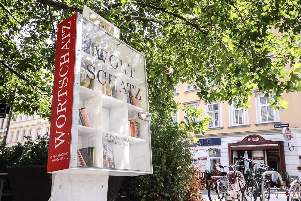 Offener Bücherschrank Wortschatz Margareten (c) STADTBEKANNT