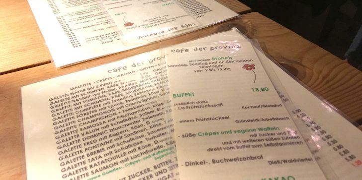 Brunchkarte Café der Provinz (c) STADTBEKANNT Hofinger