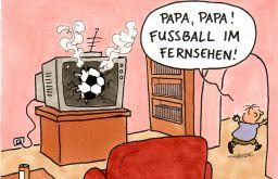Fußball im Fernsehen (c) Oliver Ottitsch