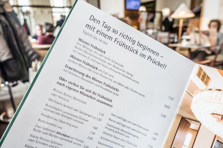 Cafe Prückel Karte (c) STADTBEKANNT