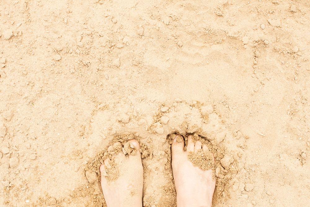 Donauinsel Sand Füße (c) STADTBEKANNT