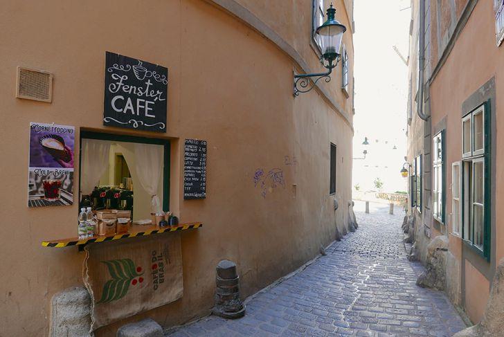 Fenster Café Gasse (c) STADTBEKANNT Wetter-Nohl