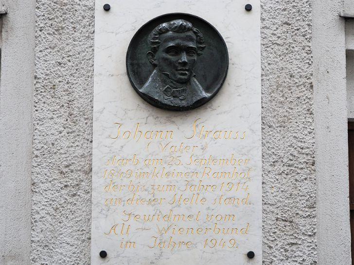 Strauss Vater - Sterbehaus (c) STADTBEKANNT Pitzer