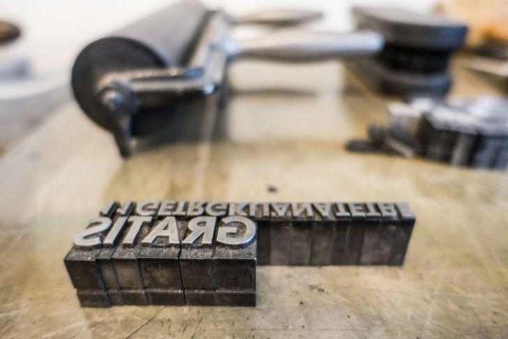 Schusterjunge Letterpress Buchstaben Gratis (c) STADTBEKANNT