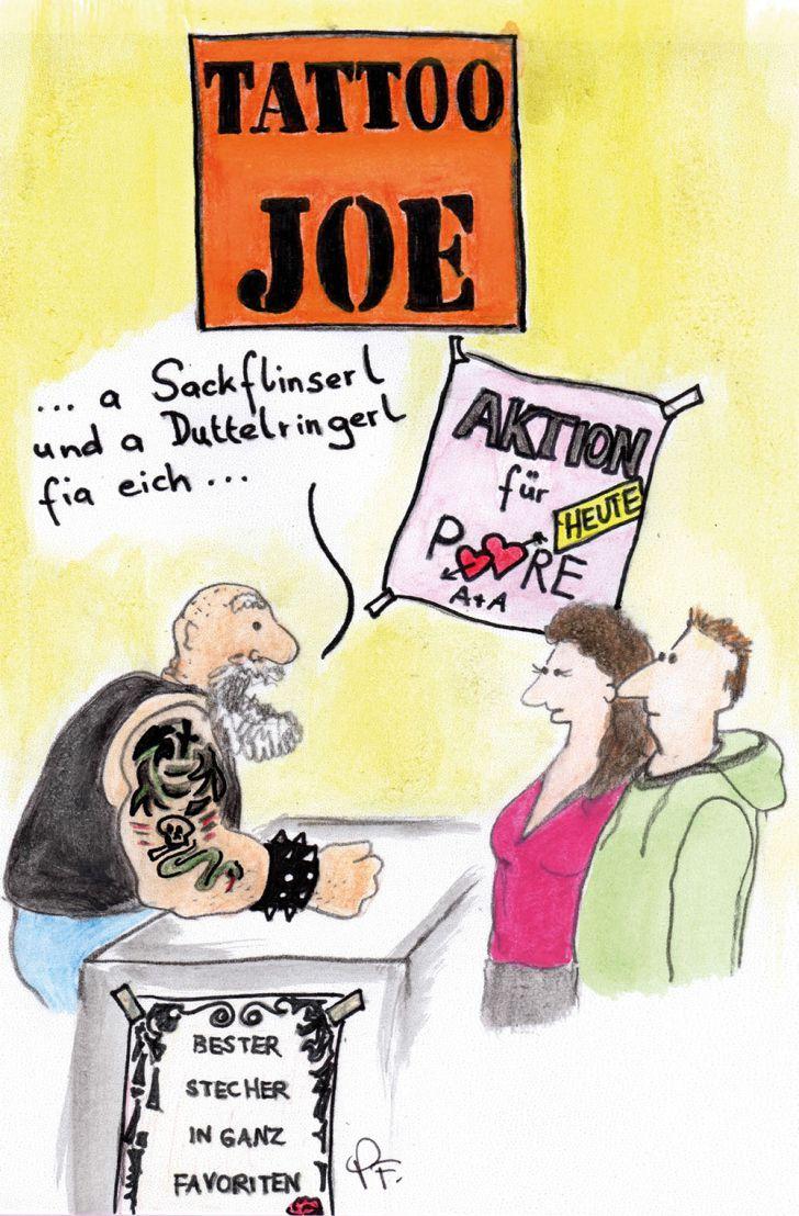Schnackseln wie ein echter Wiener - Tattoo (c) STADTBEKANNT Patricia Fontanesi