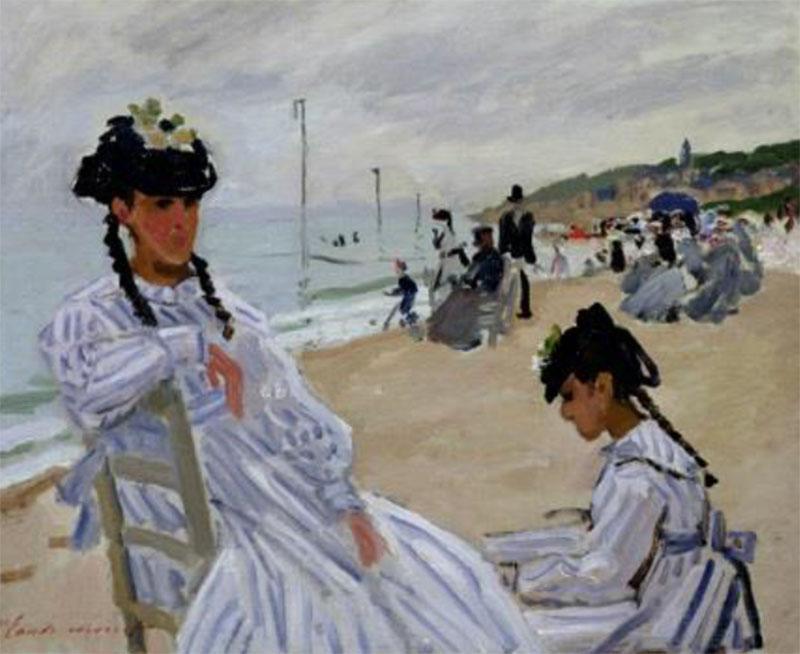 Claude Monet - Am Strand von Trouville - 1870 - Musée Marmottan Monet - Paris - The Bridgeman Art Library