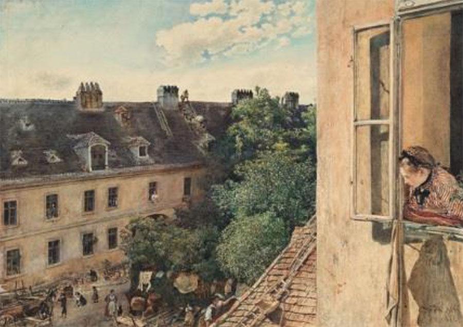 Rudolf von Alt - Blick in die Alservorstadt - 1872 - Albertina - Wien