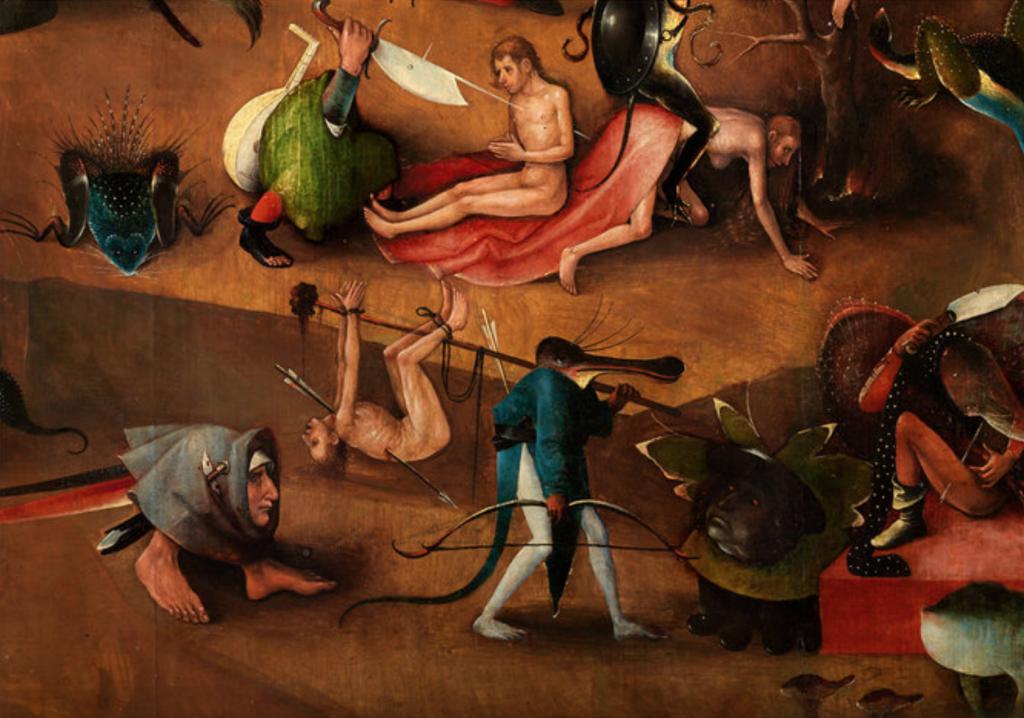 Hieronymus Bosch, Weltgerichts-Triptychon, Detail, zw. 1490-1505, © Gemäldegalerie der Akademie der bildenden Künste
