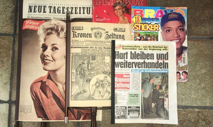 Zeitungscollage (c) Antiquariat Bücher Ernst