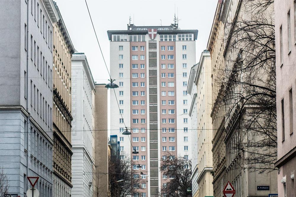 erste Wohnhochhaus der Gemeinde Wien (c) STADTBEKANNT