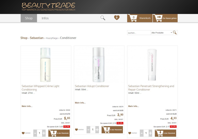 Screenshot Beautytrade