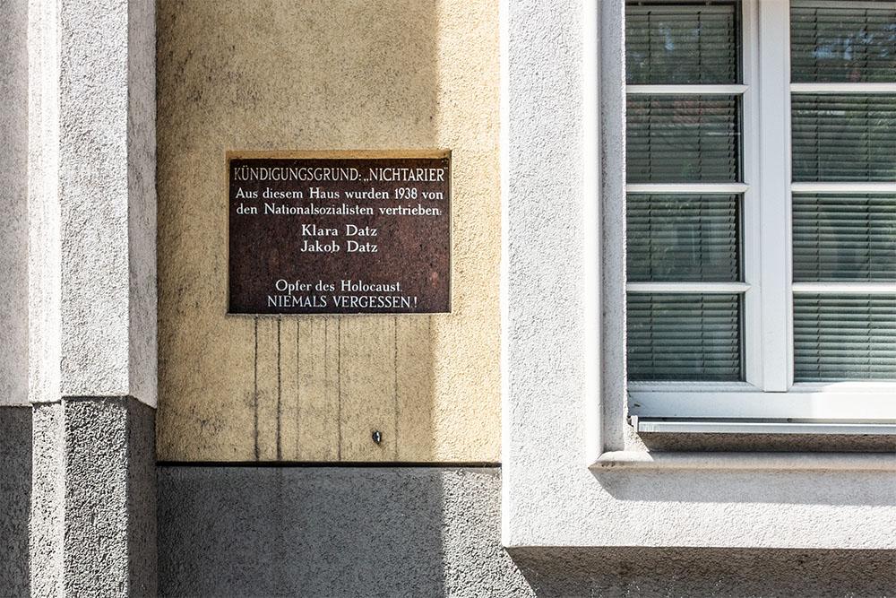 Karl-Höger-Hof Datz Gedenktafel (c) STADTBEKANNT