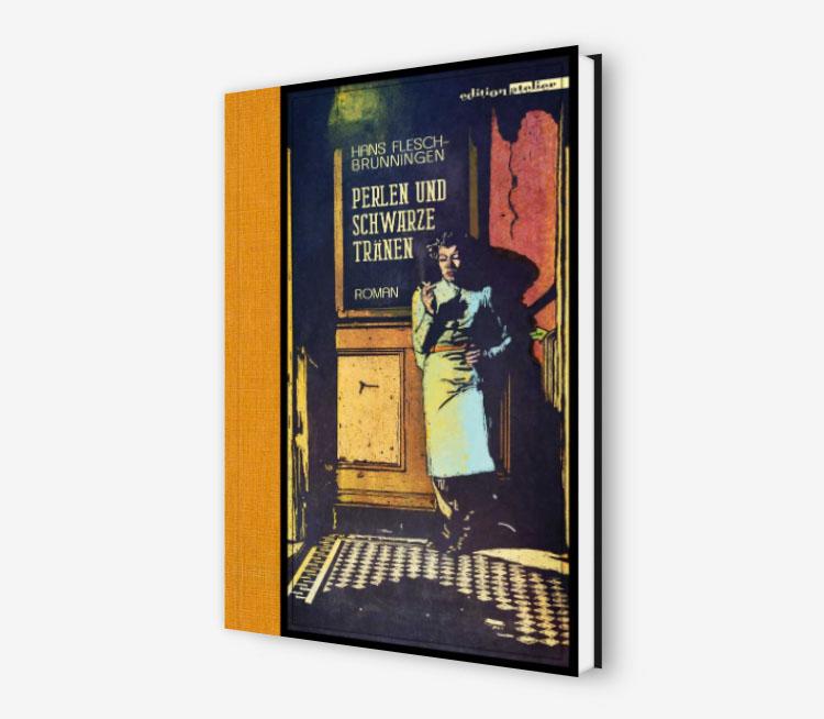 Cover-Perlen und schwarze Tränen-Simon-Hans Flesch-Brunningen-Edition-Atelier